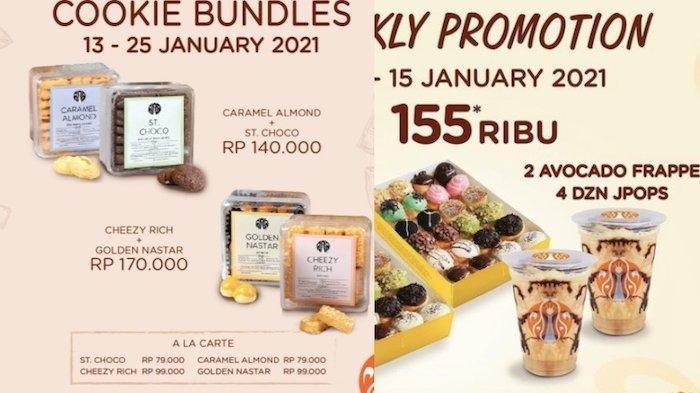 Promo JCO Sampai Tanggal 15 Januari 2021, Ada Paket Kue Kering Sampai Donat Mini dan Minuman