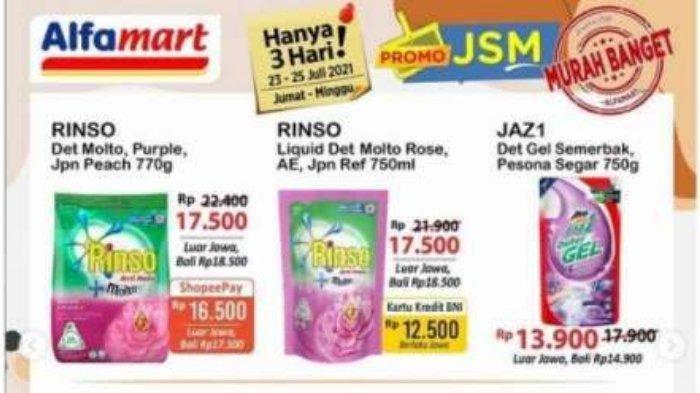 Promo JSM Alfamart Hari Terakhir 25 Juli 2021 Diskon Murah Banget Beras Super 5 Kg-Aneka Sabun Cuci