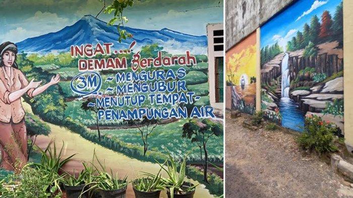 mural hasil karya warga Kelurahan Citangkil, Kecamatan Citangkil, Kota Cilegon, Banten