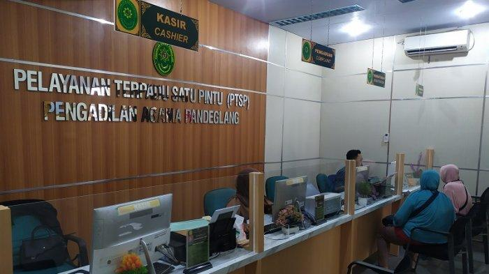 Suasana kantor Pengadilan Agama Pandeglang di Jalan Labuan Raya, Maja, Pandeglang, Banten, Jumat (22/1/2021).