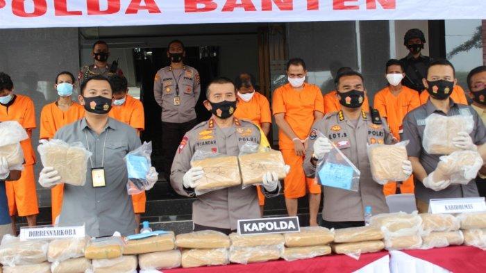 Polda Banten Gagalkan Penyelundupan Ganja, Terbesar Tahun 2020