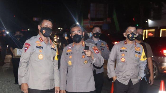 Kapolda Banten Irjen Pol Rudy Heriyanto didampingi Kabid Humas Polda Banten Kombes Pol Edy Sumardi