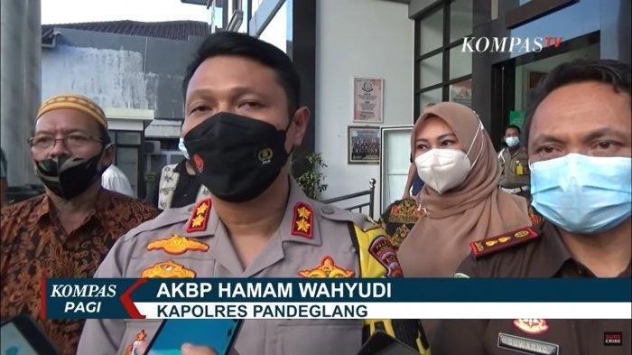 Kapolres Pandeglang, AKBP Hamam Wahyudi.
