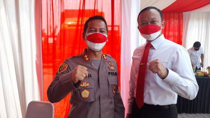 Kapolres Serang Kota, AKBP Maruli Hutapea, di Kampung Sukadiri, Banten Lama, Serang, Rabu (25/8/2021).