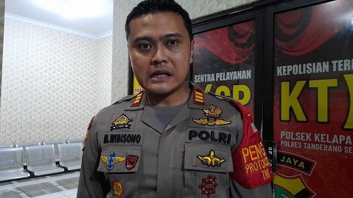 Kapolsek Kelapa Dua AKP Muharram Wibisono Adipradono di Mapolsek Kalapa Dua, Kabupaten Tangerang, Sabtu (31/10/2020).