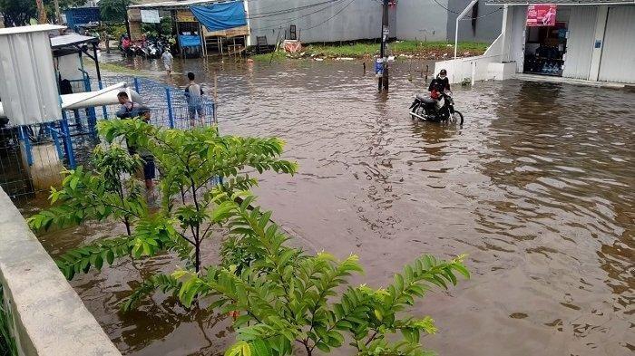 Diguyur Hujan Deras Semalam, Perumahan Garden City Tangerang Banjir