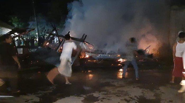 Gara-Gara Bocah Main Kembang Api, Warung Pecel Lele di Ciruas Hangus Terbakar