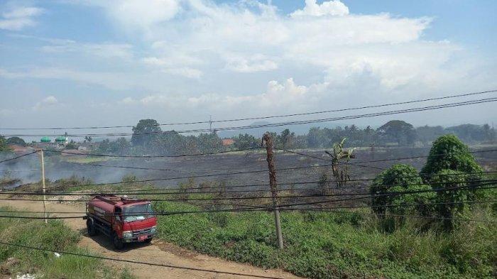 Lahan Kosong Seluas 4 Hektar di Cilegon Kembali Terbakar, Sudah Empat Kali Kejadian