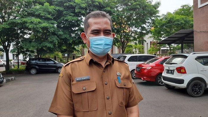 Kepala Dinas Pendidikan dan Kebudayaan Kota Serang Wasis Dewanto saat ditemui di Gedung Bappenda Kota Serang, Senin (28/6/2021).