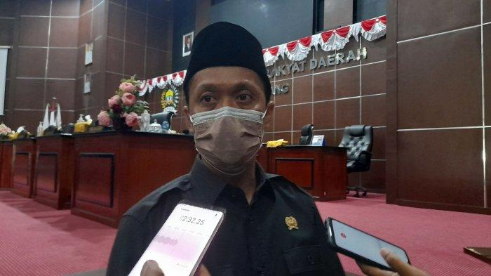 Ketua Badan Pembentukan Peraturan Daerah (Bapemperda) Kota Serang, Mad Buang saat ditemui di Gedunh DPRD Kota Serang, Senin (23/8/2021).