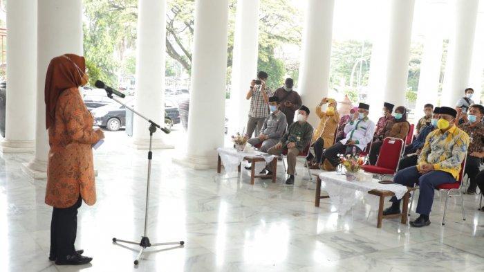 Ketua DPRD Kabupaten Serang Bahrul Ulum menghadiri Gebyar Zakat di Pendopo Bupati Serang, Kamis (6/5/2021).
