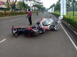 Detik-detik Polisi Ditabrak Saat Gelar Razia Sunmori di Tangerang, Pemotor Nekat Melarikan Diri