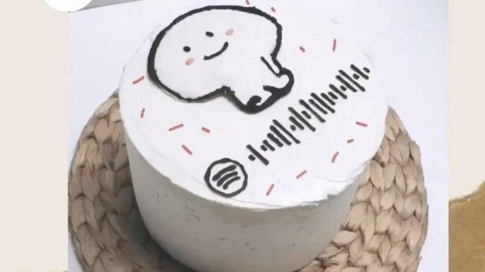 Keren! Warga Serang Ini Hadirkan Kue Ulang Tahun Berkonsep QR Spotify Sesuai Lagu Favoritmu