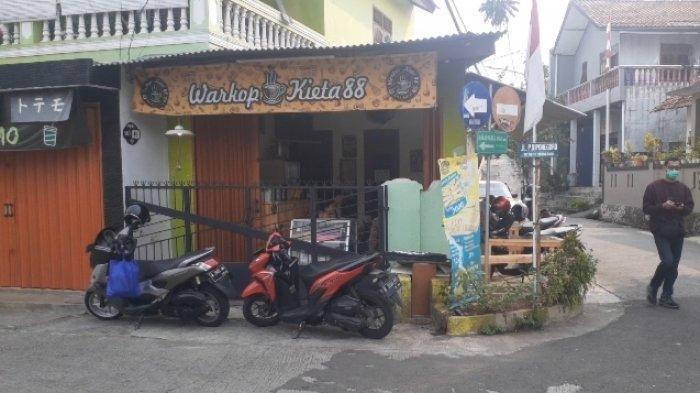Lokasi kafe yang mengalami perampokan, Rabu (18/8/2021) - Polisi akan menyelidiki kasus perampokan sebuah kafe di Jalan Diponegoro, Benda Baru, Pamulang, Tangerang Selatan (Tangsel).