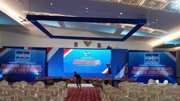 Foto yang beredar di Medsos terkait lokasi KLB Partai Demokrat di The Hill Hotel and Resort Sibolangit, Deli Serdang.