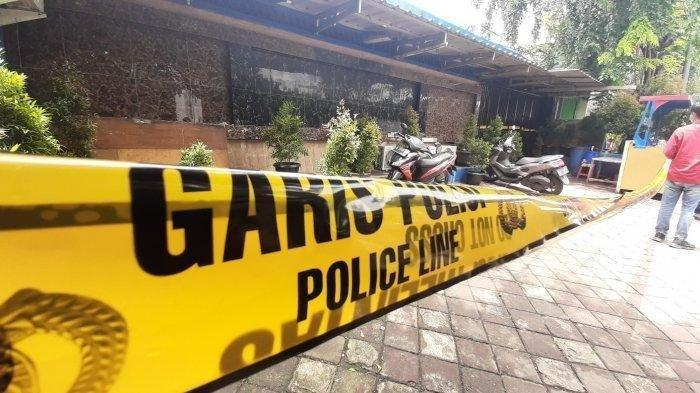 Lokasi penembakan oknum polisi, Bripka CS yang menewaskan tiga orang, termasuk anggota TNI, di Kafe RM, Kecamatan Kalideres, Cengkareng, Jakarta Barat, Kamis (25/2/2021) dini hari.