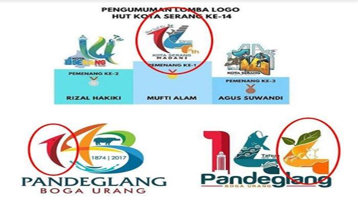 Ada Kemiripan, Logo HUT ke-14 Kota Serang Diduga Plagiat, Ini Kata Pembuat Logo HUT 143 Pandeglang