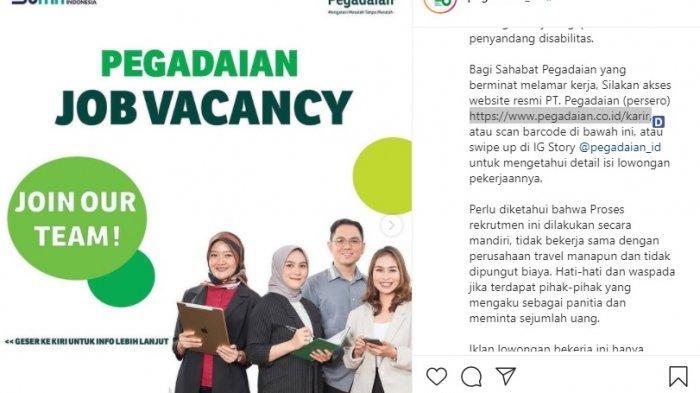BUMN PT Pegadaian Buka Lowongan Kerja Terbaru Juli 2021, Cek Persyaratan dan Link Daftarnya!