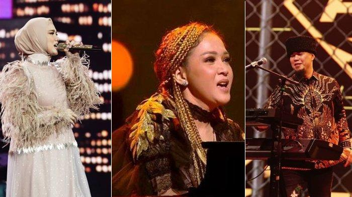 Maia Estianty dipertemukan dengan Mulan Jameela dan Ahmad Dhani di panggung Indonesian Idol