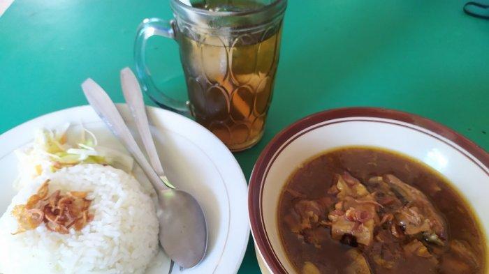 Rabeg, makanan khas Banten di Rumah Makan Rabeg Khas Serang Haji Naswi (Magersari) di Jalan Mayor Safei, Kotabaru, Kota Serang atau berseberangan dengan Rutan Serang, saat dikunjungi TribunBanten.com, Rabu (23/12/2020).