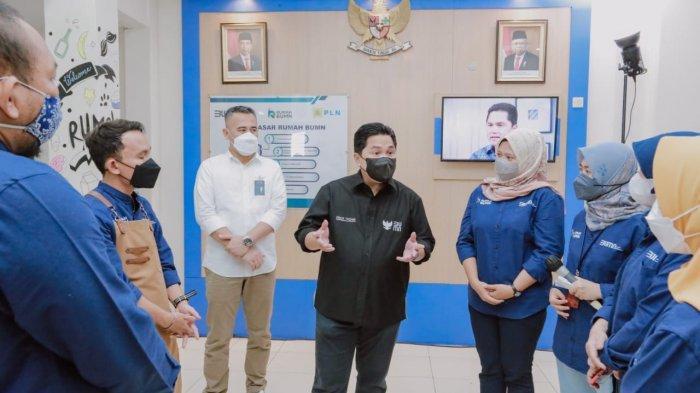 Kunjungan ke Cirebon, Menteri BUMN Apresiasi PLN Mendukung 8.000 UMKM Hadapi Pandemi Covid-19