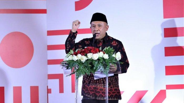 Menteri Koperasi dan UKM Teten Masduki dalam acara Percepatan Perputaran Ekonomi Lokal, Launching Bela Pengadaan dan Laman UMKM serta Pasar Digital UMKM secara virtual, Senin (17/8/2020).