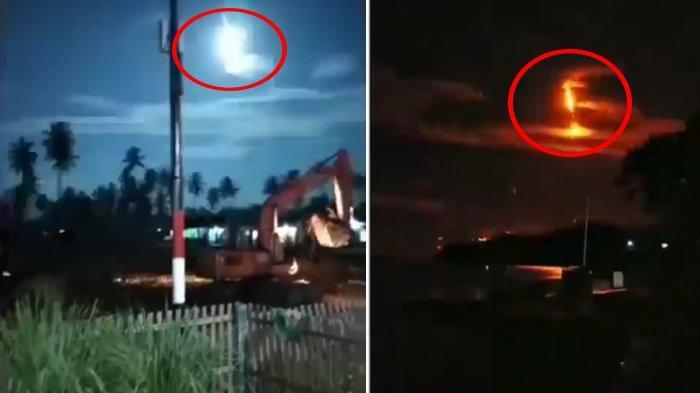 Viral Video Diduga Meteor Jatuh di Langit Banggai Sulteng, Terdengar Suara Ledakan