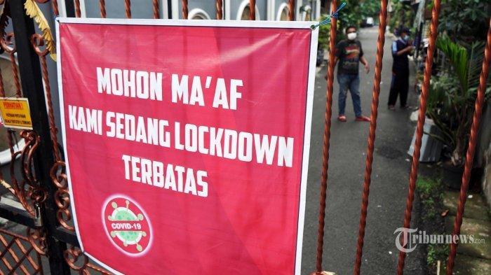 Terapkan Mini Lockdown, Rumah Warga Positif Covid-19 di Lebak Diberi Tanda Bendera