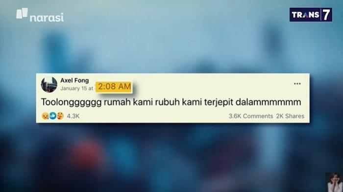 'Tolong Rumah Kami Rubuh', Kisah 1 Keluarga Selamat Berkat Minta Tolong di Facebook Saat Gempa
