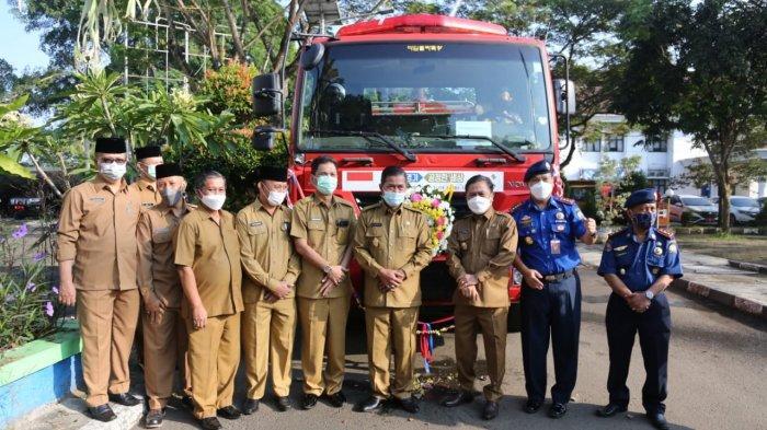 Pemkot Serang Terima Bantuan Mobil Damkar dari Korsel
