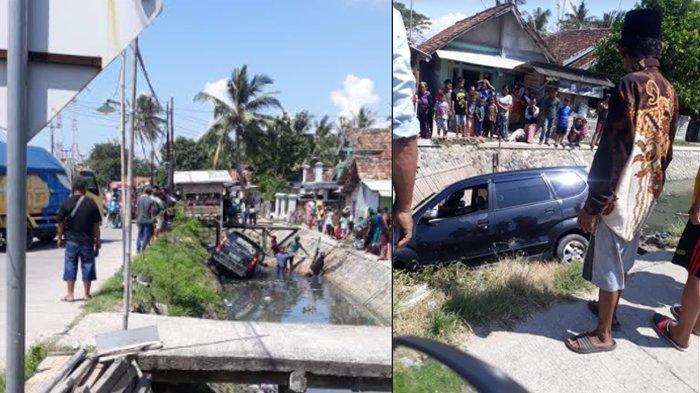 Mobil Avanza Terperosok ke Sungai, Sopir Ngantuk Setelah Berkendara dari Jawa Tengah