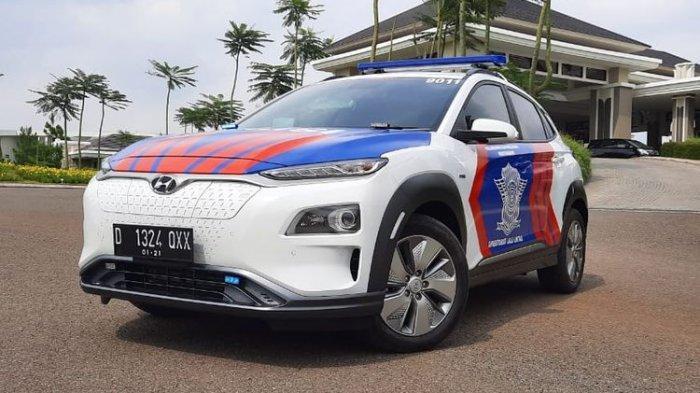 Polisi Patwal ini Pakai Hyundai Kona Electric Rp 600 Jutaan, Isi Baterai Cepat 0-100% Hanya 54 Menit