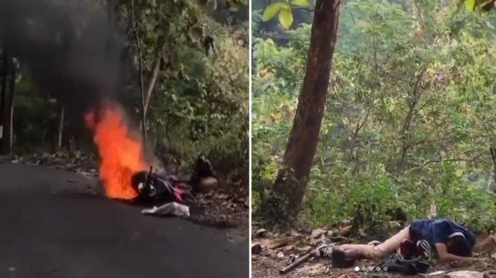 Viral Video Kurir Menangis Histeris saat Motor dan Semua Paket Hangus Terbakar: Allahuakbar