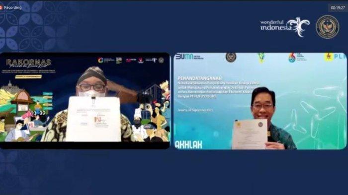 MoU dengan Kemenparekraf, PLN Dukung Pengembangan Destinasi Wisata Tanah Air, Sediakan Listrik Prima