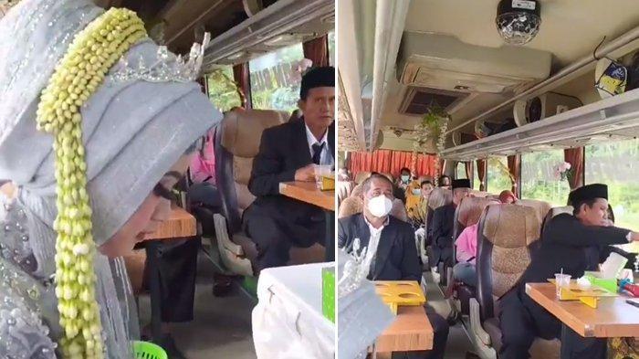 Viral Pengantin di Boyolali Gelar Pernikahan di dalam Bus untuk Hindari Razia PPKM Darurat