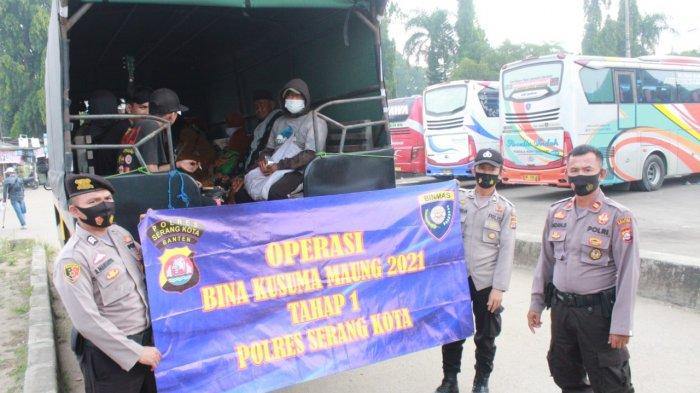 Operasi Bina Kusuma, 17 Pengamen dan Anak Jalanan Diangkut dari Jalanan Kota Serang