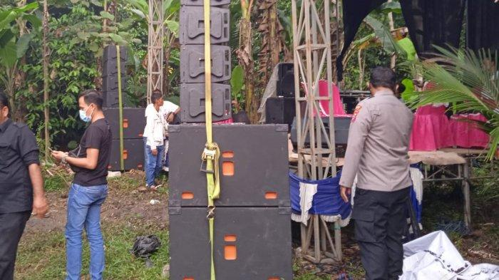 Personel Polsek Pamarayan Kabupaten Serang Bubarkan Organ Tunggal, Kapolsek: Tegas dan Humanis