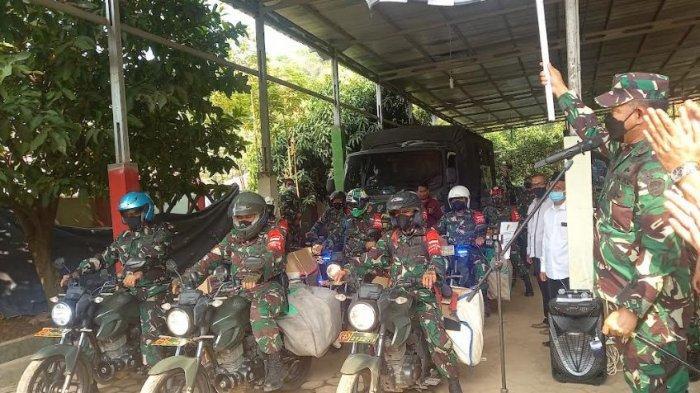 Pangdam III Siliwangi, Mayjen TNI Agus Subiyanto melepas tim untuk melaksanakan Tentara Manunggal Masuk Desa (TMMD) di Kelurahan Mekarsari, Kecamatan Pulomerak, Kota Cilegon, Senin (20/9/2021)