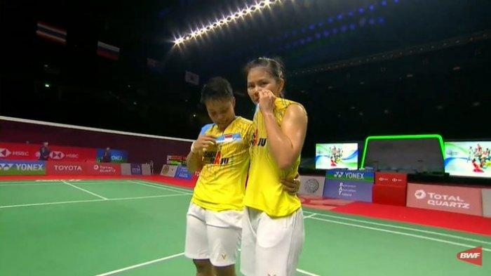 Pasangan ganda putri Indonesia, Greysia Polii/Apriyani Rahayu meraih gelar juara Thailand Open 2021.