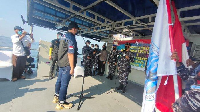 Pelantikan Pengurus POSSI Kota Cilegon Digelar di Selat Sunda di Atas Kapal Angkatan Laut Anyer