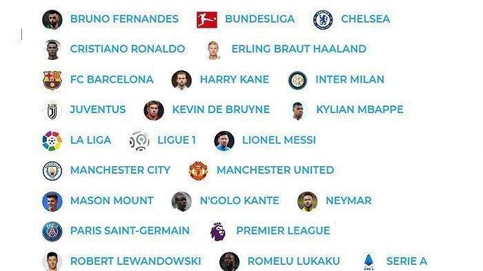 Daftar Peringkat 50 Pemain Sepakbola Terbaik 2021, Dari Ronaldo Hingga Messi, Ada Pemain Favoritmu?