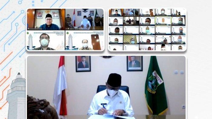 Pemprov Banten-Bank Indonesia Bentuk Tim Percepatan dan Perluasan Digitalisasi Daerah (TP2DD) Banten