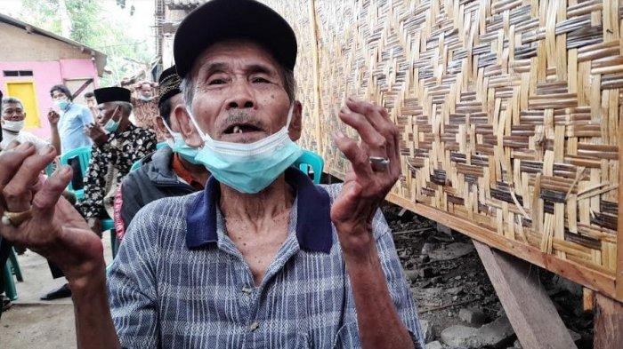 Kakek Aceng Bersyukur Rumahnya Direnovasi, Sudah 2 Kali Roboh dan Bangunannya Miring