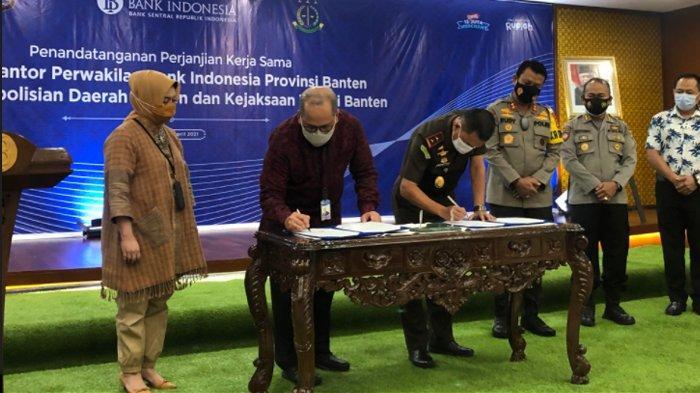 BI Bersama Polda dan Kejati Banten Teken MoU Pencegahan Tindak Pidana di Bidang Keuangan