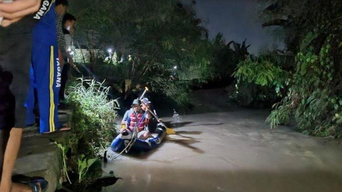 Jelang Tengah Malam, Pencarian Remaja yang Hanyut di Sungai Banjar Agung Serang Masih Nihil
