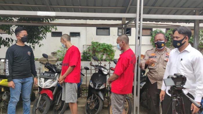Pelaku Pencurian dan Penadah Sepeda Motor di Cilegon Tak Berkutik saat Ditangkap Polisi