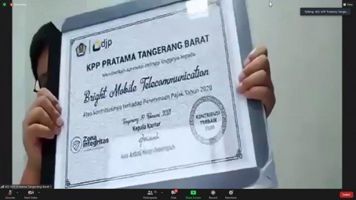 Kantor Pelayanan Pajak (KPP) Pratama Tangerang Barat menggelar kegiatan Tax Gathering dan Pekan Panutan di Aula Soetta KPP Tangerang Barat secara virtual, Rabu (24/2/2021).