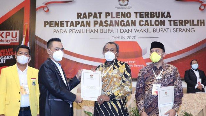 KPU Tetapkan Tatu-Pandji Pemenang Pilkada Kabupaten Serang 2020, Pandji: Pemilihan Paling Aman