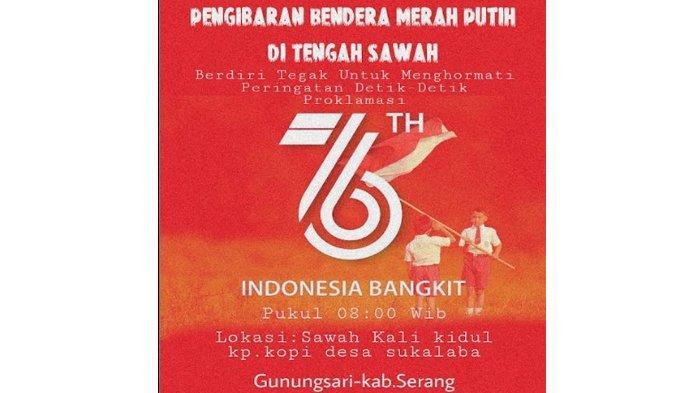 Semarakkan HUT Ke-76 RI, Warga Gunungsari Siap Kibarkan Bendera Merah Putih di Tengah Sawah Besok