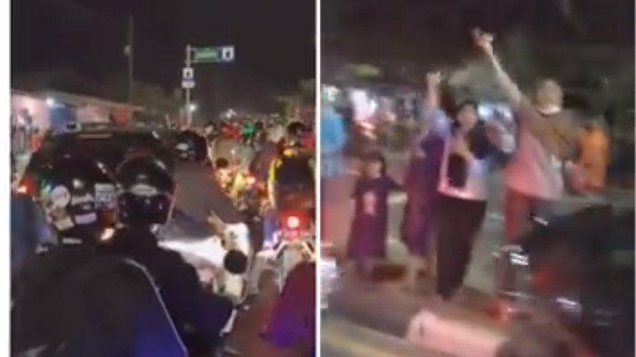 Viral Video Warga Bersorak-sorai Semangati Pemudik di Tengah Jalan Raya